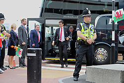 CARDIFF, WALES - Saturday, June 4, 2016: Wales' manager Chris Coleman arrives at Cardiff Airport ahead of the team's departure to Sweden and onto the European Championships 2016 in France. (Pic by David Rawcliffe/Propaganda)