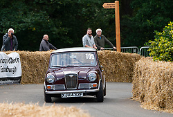 Boness Revival hillclimb motorsport event in Boness, Scotland, UK. The 2019 Bo'ness Revival Classic and Hillclimb, Scotland's first purpose-built motorsport venue, it marked 60 years since double Formula 1 World Champion Jim Clark competed here.  It took place Saturday 31 August and Sunday 1 September 2019. 105, Iain Crockett. Wolseley Hornet.
