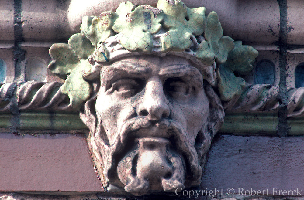 CHICAGO, ARCHITECTURE terra cotta relief onAragon Ballroom