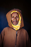 ASSAISS, MOROCCO - October 28th 2015 - Portrait of a local to Assaiss at the Assaiss market, Taliouine, Sirwa Mountain Range, Souss Massa Draa region of Southern Morocco