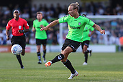 Forest Green Rovers Joseph Mills(23) crosses the ball during the Pre-Season Friendly match between Forest Green Rovers and Leeds United at the New Lawn, Forest Green, United Kingdom on 17 July 2018. Picture by Shane Healey.