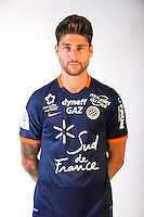 Paul Lasne during the photocall of Montpellier for new season of Ligue 1 on September 27th 2016 in Montpellier<br /> Photo : Mhsc / Icon Sport