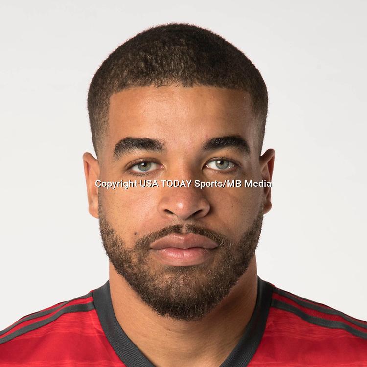 Feb 25, 2017; USA; Toronto FC player Jordan Hamilton poses for a photo. Mandatory Credit: USA TODAY Sports
