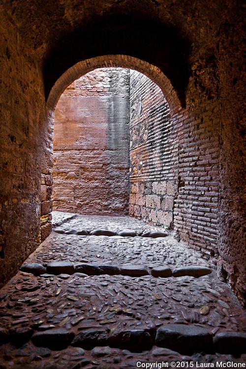 Spanish Stone Pathway, Alhambra Palace, Spain