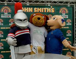 MASCOTS, POSE ON JOHN SMITHS STAND, John Smiths Mascot Grand National, Huntingdon Racecourse Sunday 5th October 2008