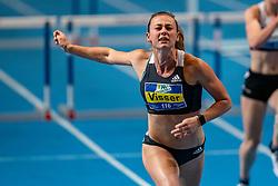 Nadine Visser win the 60 meter hurdles during the Dutch Indoor Athletics Championship on February 23, 2020 in Omnisport De Voorwaarts, Apeldoorn