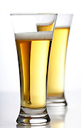 Studio shot of two beers