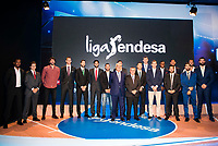 All the player pose to photo family during the presentation of the new season of La Liga Endesa 2016-2017 in Madrid. September 20, 2016. (ALTERPHOTOS/Borja B.Hojas)