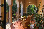 San José Cholul. A old henequen hacienda's room, once owner's residence. Now San José is a luxury hotel.