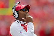 KANSAS CITY, MO - SEPTEMBER 26:   Head Coach Mike Singletary of the San Francisco 49ers watches a replay on the scoreboard during a game against the Kansas City Chiefs at Arrowhead Stadium on September 26, 2010 in Kansas City, Missouri.  The Chiefs defeated the 49ers 31-10.  (Photo by Wesley Hitt/Getty Images) *** Local Caption *** Mike Singletary
