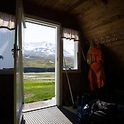 """The hut """"Heiðarhús"""". Flateyjardalur, Iceland."""
