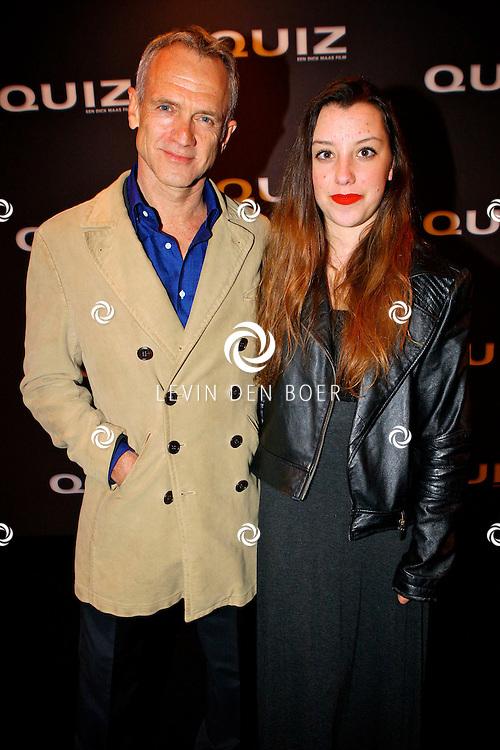 AMSTERDAM - In het Tuschinski theater is de Nederlandse film Quiz in premiere gegaan.  Met op de foto Jaap en zijn dochter Berber Jongbloed. FOTO LEVIN DEN BOER - PERSFOTO.NU