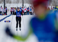 Justyna Wasiluk - polish athlete with intellectual disabilities competes in Preliminary of Cross Country 100 meters Race Classical during 2013 Special Olympics World Winter Games PyeongChang at Cross Country Skiing Venue on January 30, 2013...South Korea, PyeongChang, January 30, 2013..Picture also available in RAW (NEF) or TIFF format on special request...For editorial use only. Any commercial or promotional use requires permission...Photo by © Adam Nurkiewicz / Mediasport