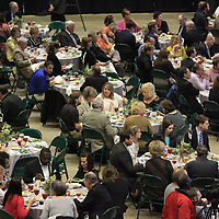 Area residents, business leaders and city officials fill the BancorpSouth Arena for the Community Develpoment Foundation's 68th Annual Meeting and Report Thursday night in Tupelo.