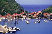 Image of Gustavia Harbor on St. Barthelemy, Caribbean