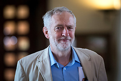 © Licensed to London News Pictures. 14/04/2016. London, UK. Leader of the Labour Party JEREMY CORBYN arrives to deliver a speech agueing the case for Britain remaining in Europe, at Senate House in London. The Uk is due to vote in and in out refarendum in their membership of the EU on June 23rd, 2016.  Photo credit: Ben Cawthra/LNP