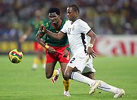 Fotball<br /> Foto: DPPI/Digitalsport<br /> NORWAY ONLY<br /> <br /> FOOTBALL - AFRICAN CUP OF NATIONS 2008 - 1/2 FINAL - 7/02/2008 - GHANA v CAMEROON - ANDRE AYEW (GHA) / SAMUEL ETOO (CAM) <br /> <br /> Afrika mesterskapet<br /> Ghana v Kamerun