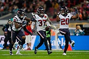 Houston Texans Defensive Back Jahleel Addae (37) celebrates his interception during the International Series match between Jacksonville Jaguars and Houston Texans at Wembley Stadium, London, England on 3 November 2019.