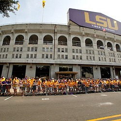 Sep 18, 2010; Baton Rouge, LA, USA;  A general view outside prior to a game between the LSU Tigers and the Mississippi State Bulldogs at Tiger Stadium.  Mandatory Credit: Derick E. Hingle