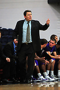 November 28, 2011; Moraga, CA, USA; San Francisco State Gators head coach Paul Trevor instructs during the second half of the Shamrock Office Solutions Classic consolation game against the Jacksonville State Gamecocks at McKeon Pavilion. The Gators defeated the Gamecocks 71-68.