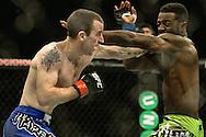 "STOCKHOLM, SWEDEN, JANUARY 24, 2015: Neil Seery vs. Chris Beal during ""UFC on Fox 14: Gustafsson vs. Johnson"" inside Tele2 Arena in Stockholm, Sweden"