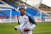 Leicester City midfielder Demarai Gray (7) on the pitch before the The 4th round FA Cup match between Peterborough United and Leicester City at London Road, Peterborough, England on 27 January 2018. Photo by Nigel Cole.