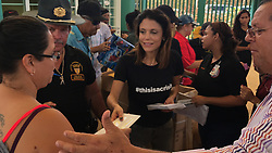 "Bethenny Frankel is seen here in a series of photos taken during her aid mission to Puerto Rico, which was ravaged by Hurricane Maria almost two weeks ago. The Real Housewives Of New York personality, who recently underwent surgery to remove skin cancer below her eye, has headed up a huge relief effort and chartered 10 planes to bring vital supplies to the island's stricken inhabitants. Frankel, 46, and her friends personally paid for the planes - the first four of which she managed to negotiate a fee of just under $20,000. As well as bringing medical and food supplies, Frankel alongside The Global Empowerment Mission flew back dozens of wounded women and children and cancer victims from local hospitals so they could get treatment in the United States. The Skinnygirl founder has used the power of social media to help network and find doctors back in the U.S. who could help. She explained: ""Twitter users literally saved babies lives by connecting me to a pediatric hospital allowing me to transport patients home [to the U.S.]. It is the most incredible tool in the world."" Talking of the devastation she's witnessed on the U.S. territory island, Frankel said: ""This is a forgotten island. People have been living on their roofs for 13 days. It is like nothing I have ever seen. Peoples entire homes and cars are immersed in mud the likes I've never seen."" The current death toll stands at 34, but is expected to rise as the humanitarian crisis continues. With an island-wide power outage and widespread lack of fuel, fears continue for residents on the island who need hospital treatment and regular care. Frankel went on: ""There is no color on the island. Every palm tree is rooted. This bitch hit every inch of this island. The low death toll is only counting what happened when it hit, but a storm happens more gradually than a hurricane. ""Now is when people are dying. They are starving. They are thirsty. They cannot communicate. They cannot bathe themselves. They"
