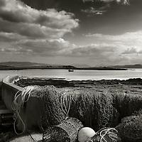 Fishing nets and lobster pots, Kilchoan bay, Ardnamurchan, Highlands