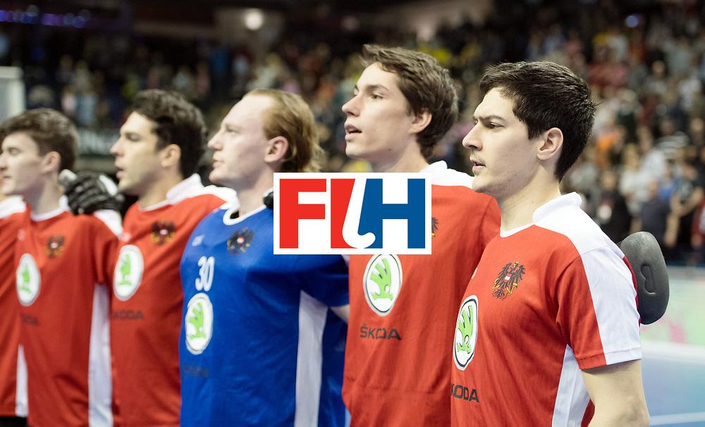 BERLIN - Indoor Hockey World Cup<br /> SF2 Australia - Austria<br /> foto: Line Up<br /> WORLDSPORTPICS COPYRIGHT FRANK UIJLENBROEK