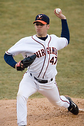 Virginia Cavaliers pitcher Jeff Lorick (47) earned his first win of the season in action against W&M.  The Virginia Cavaliers Baseball Team defeated William and Mary 17-2 at Davenport Field in Charlottesville, VA on February 20, 2007.