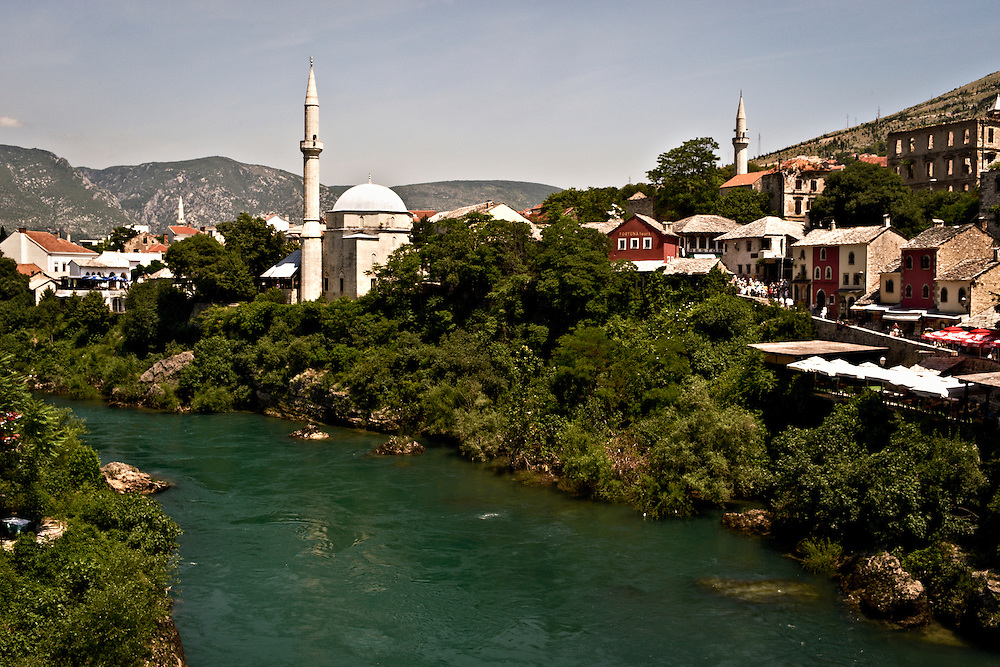 View of Historic Mostar, Bosnia and Herzegovina