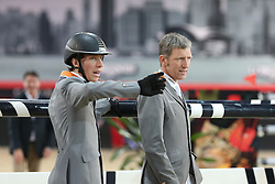 Beerbaum Ludger (GER), Von Eckermann Henrik (SWE)<br /> CSI 5* Longines Hong Kong Masters 2013<br /> Winner of the Longines Grand Prix<br /> © Hippo Foto - Counet Julien