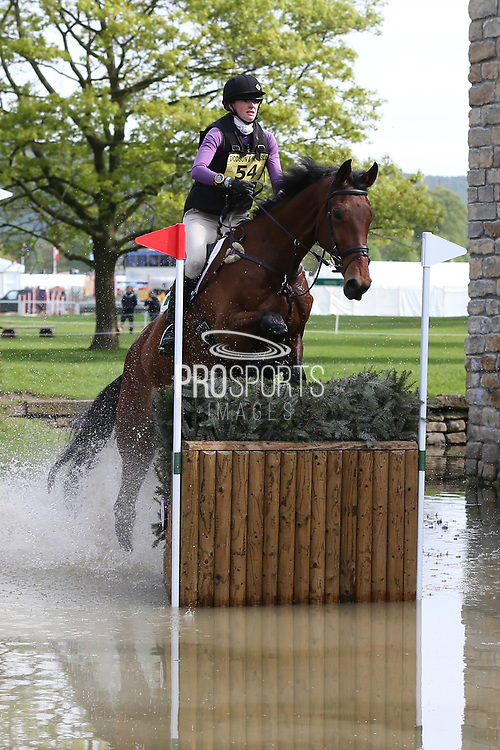 Sarah Dowley (IRE) on Rubix Kube during the International Horse Trials at Chatsworth, Bakewell, United Kingdom on 13 May 2018. Picture by George Franks.