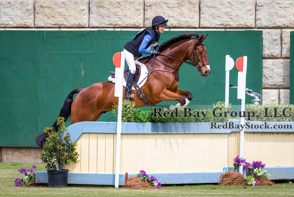 Natasha Erschen and Fernhill Flutter at The Fork Horse Trials at the Tryon International Equestrian Center in Mill Spring, North Carolina.