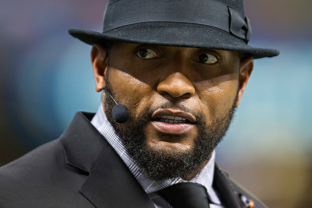 NEW ORLEANS, LA - NOVEMBER 24:  Ray Lewis of ESPN Monday Night Football before a game between the Baltimore Ravens and the New Orleans Saints at Mercedes-Benz Superdome on November 24, 2014 in New Orleans, Louisiana.  The Ravens defeated the Saints 34-27.  (Photo by Wesley Hitt/Getty Images) *** Local Caption *** Ray Lewis