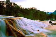 MEXICO, CHIAPAS, LANDSCAPE Agua Azul cascades near Palenque
