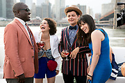 NEW YORK - JULY 10: Broad City cast is photographed during production shoots live on location in New York City July 10,  2014 in New York City.   (Matthew Peyton for Comedy Central)