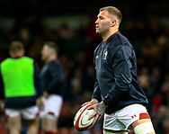 Ross Moriarty of Wales during the pre match warm up<br /> <br /> Photographer Simon King/Replay Images<br /> <br /> Under Armour Series - Wales v South Africa - Saturday 24th November 2018 - Principality Stadium - Cardiff<br /> <br /> World Copyright &copy; Replay Images . All rights reserved. info@replayimages.co.uk - http://replayimages.co.uk