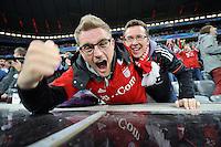 FUSSBALL  CHAMPIONS LEAGUE  SAISON 2012/2013  FINALE  Public Viewing anlaesslich des Champions League Finale 2013 am 25.05.2013 in der Allianz Arena: Grosse Freude bei den Bayern Fans