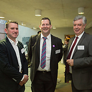 20.01.17<br /> Minister of State for Employment and Small Business, Deputy Pat Breen addressed a seminar for SMEs on The Role of Education in Supporting Small Business at University of Limerick.<br /> <br /> Pictured at the event were, Brendan Maher, Maher Ltd., Dr. Liam Brown, LIT and Dr. Philip O'Regan, Dean of Kemmy Business School, UL.<br /> <br />  Jointly hosted by the Kemmy Business school and the faculty of Science and Engineering, the event brought together small and medium enterprises along with representative bodies, Local Enterprise Offices, Chambers of Commerce, Irish Small and Medium Enterprises association (ISME), Enterprise Ireland and the IDA. The aim of the event was to stimulate greater collaboration between third level institutes and SMEs in relation to research, education and business advice. To date, University of Limerick and Limerick Institute of Technology have supported a number of start-ups through the Nexus Innovation Centre and LIT's Enterprise Centres while academic staff have provided expert advice to local companies. Picture: Alan Place