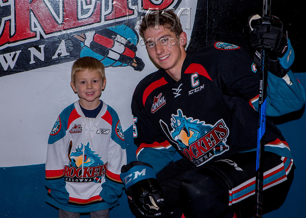 KELOWNA, CANADA - SEPTEMBER 22:  Pepsi Player of the game with Cal Foote #25 of the Kelowna Rockets on September 22, 2017 at Prospera Place in Kelowna, British Columbia, Canada.  (Photo By Cindy Rogers/Nyasa Photography,  *** Local Caption ***