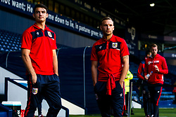 Andreas Weimann of Bristol City and Max O'Leary of Bristol City arrive at the Hawthorns for the Sky Bet Championship fixture against West Bromwich Albion - Mandatory by-line: Robbie Stephenson/JMP - 18/09/2018 - FOOTBALL - The Hawthorns - West Bromwich, England - West Bromwich Albion v Bristol City - Sky Bet Championship