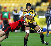 Victor Vito in action for the Hurricanes .Super15 rugby union match - Crusaders v Hurricanes at Westpac Stadium, Wellington, New Zealand on Saturday, 18 June 2011. Photo: Justin Arthur / photosport.co.nz