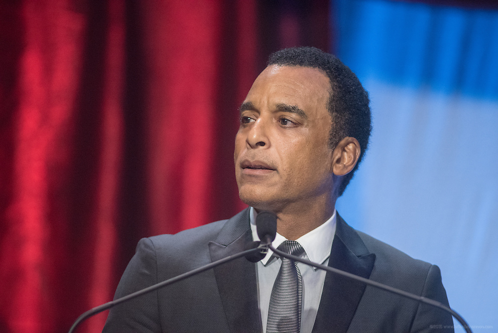 Multi-Grammy Award-winner Jon Secada accepts the Muhammad Ali Humanitarian of the Year Award at the fourth annual Muhammad Ali Humanitarian Awards Saturday, Sept. 17, 2016 at the Marriott Hotel in Louisville, Ky. (Photo by Brian Bohannon for the Muhammad Ali Center)
