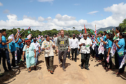 Prince Harry visits Sumara Village in the Guyana Hinterland, as part of his tour of the Caribbean.