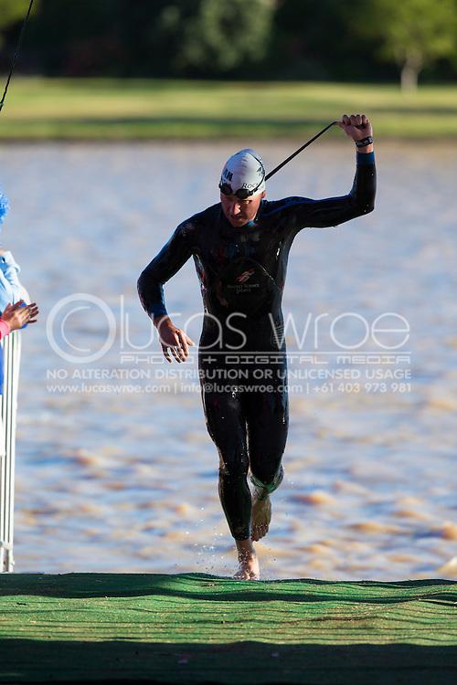 Ben Allen (AUS). 2012 Ironman Shepparton 70.3 Triathlon. Shepparton, Victoria, Australia. 18/11/2012. Photo By Lucas Wroe