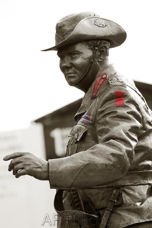 Pompey Elliott Statue on Sturt St, Ballarat