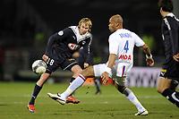 FOOTBALL - FRENCH CHAMPIONSHIP 2009/2010  - L1 - OLYMPIQUE LYONNAIS v GIRONDINS BORDEAUX - 13/12/2009 - PHOTO JEAN MARIE HERVIO / DPPI - JAROSLAV PLASIL (BDX)