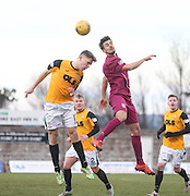 East Fife&rsquo;s Jason Kerr and Arbroath&rsquo;s Craig Watson - East Fife v Arbroath, SPFL League Two at New Bayview<br /> <br />  - &copy; David Young - www.davidyoungphoto.co.uk - email: davidyoungphoto@gmail.com