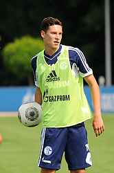 16.07.2013, Trainingsgelaende, Veltins Arena, GER, 1. FBL, FC Schalke 04 Training, im Bild Julian Draxler ( Schalke 04/ Portrait ),  // during a Training Session of German Bundesliga Club Fc Schalke 04 at the Training Ground, Veltins Arena, Germany on 2013/07/16. EXPA Pictures © 2013, PhotoCredit: EXPA/ Eibner/ Thomas Thienel<br /> <br /> ***** ATTENTION - OUT OF GER *****